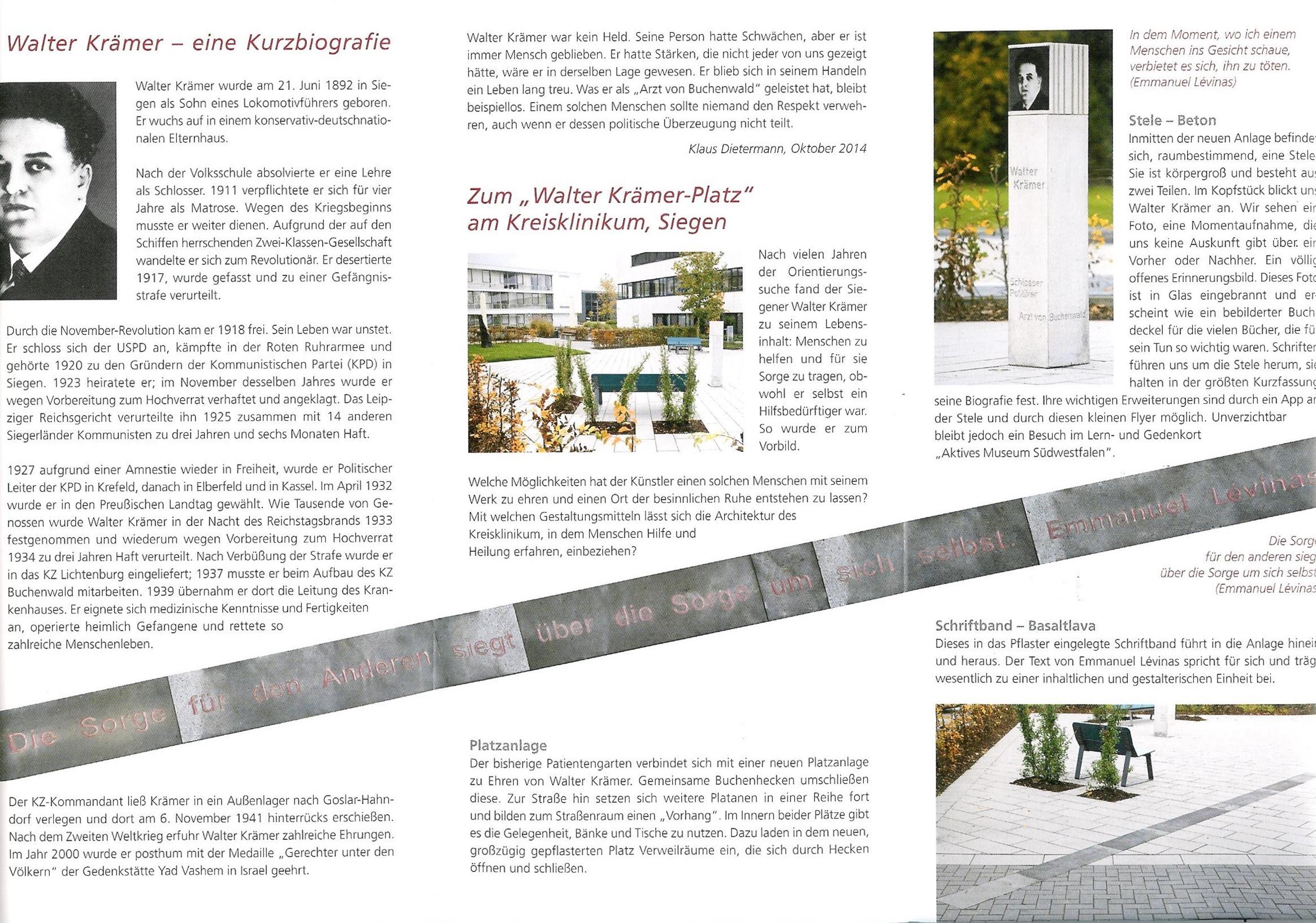 Flyer W.K.-Denkmal II