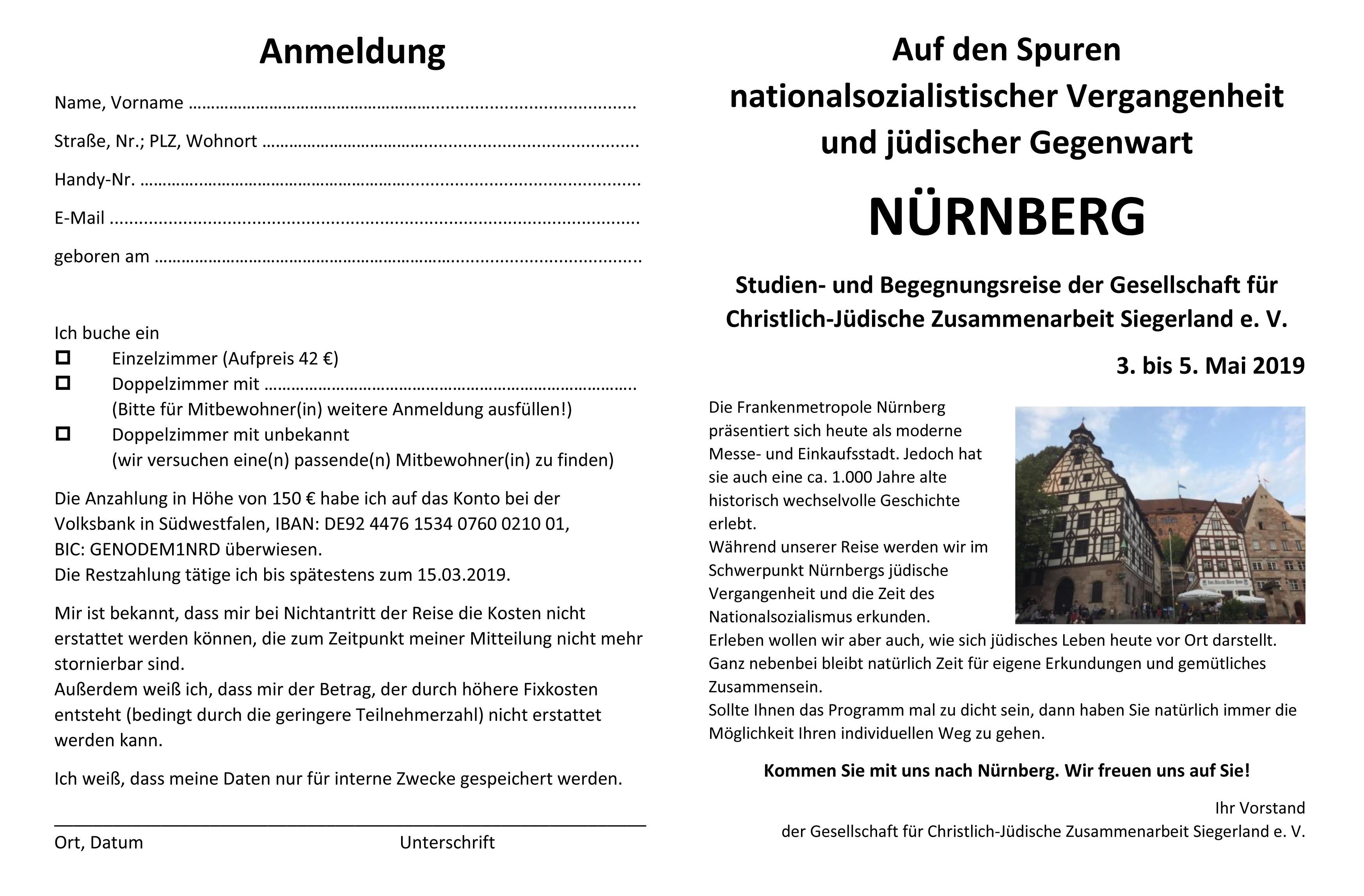 Flyer Nürnberg Deckblatt